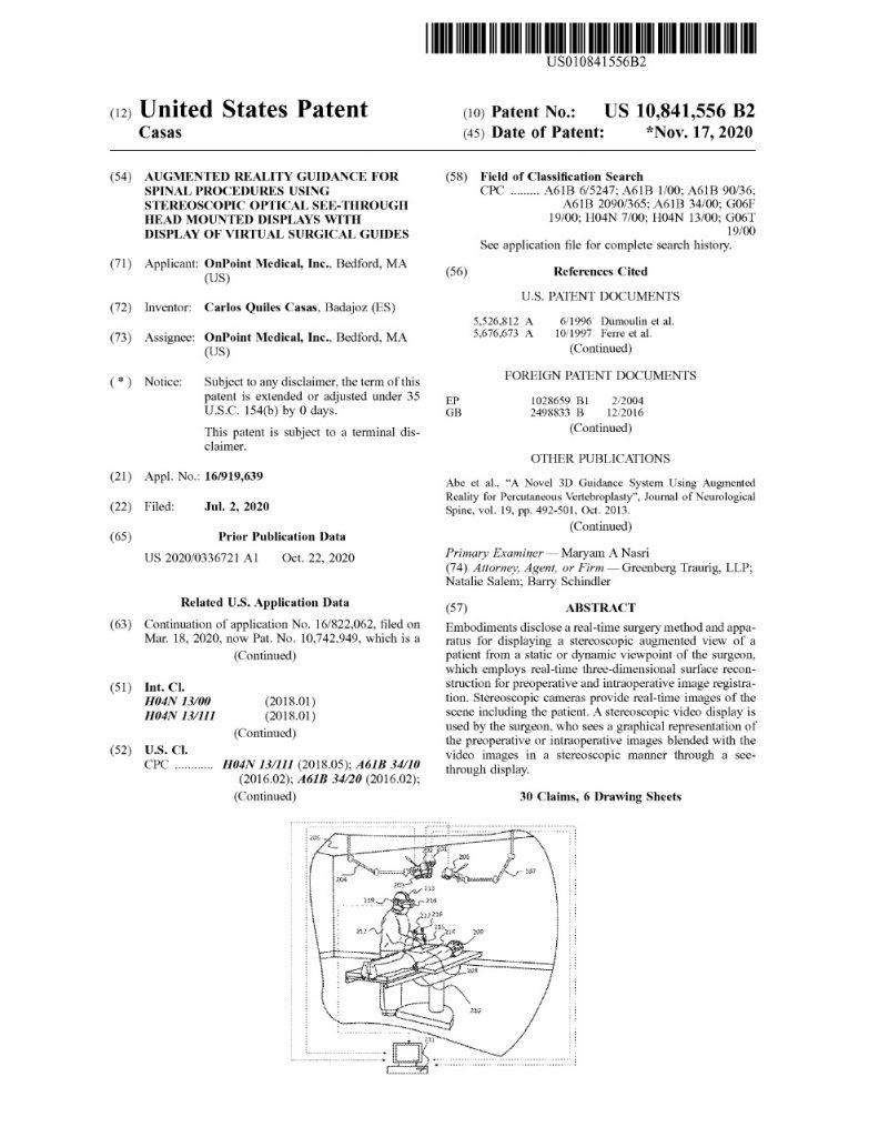 US Patent 10,841,556