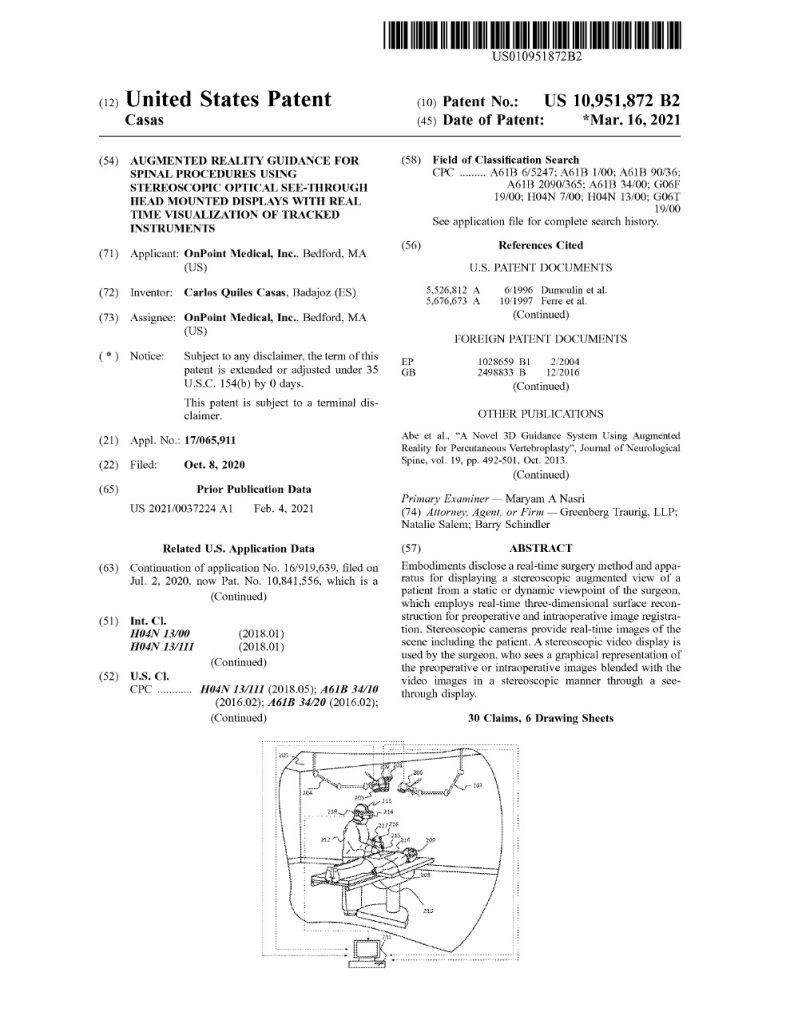 US Patent 10,951,872